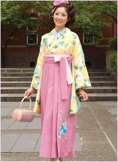 卒業式袴ピンク